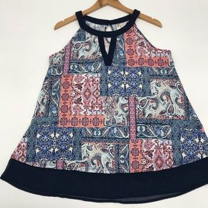 PerSeption Concept Paisley Bandana Patchwork Top